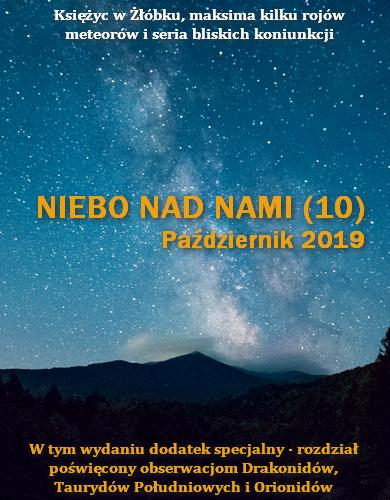 NIEBO NAD NAMI (10) - Październik 2019: Księżyc w Żłóbku, maksima kilku rojów meteorów i seria bliskich koniunkcji