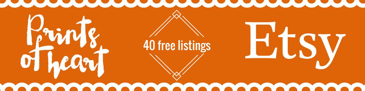 40 free etsy listings link