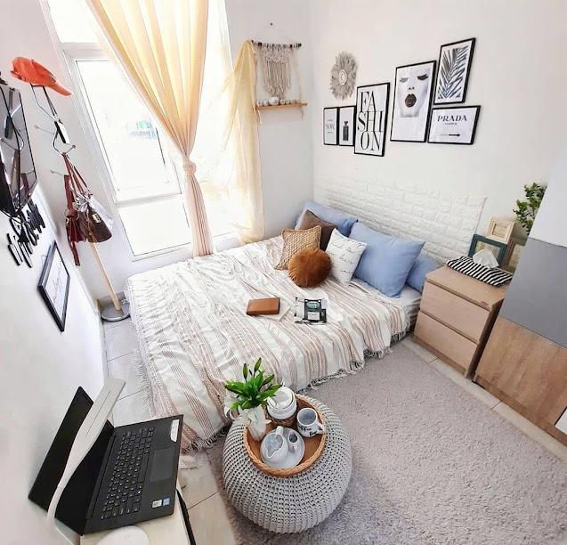 Warna Cerah Kamar Tidur Remaja Sempit sederhana