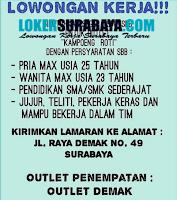 Karir Surabaya di Outlet Kampoeng Roti Surabaya Maret 2020