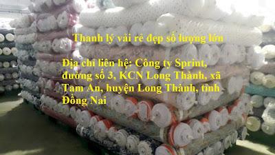 Thu Mua Vải Công ty TNHH S-PRINT,INC tại KCN Long Thành