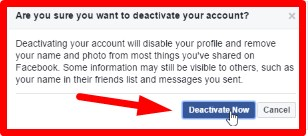 how do you deactivate facebook account temporarily