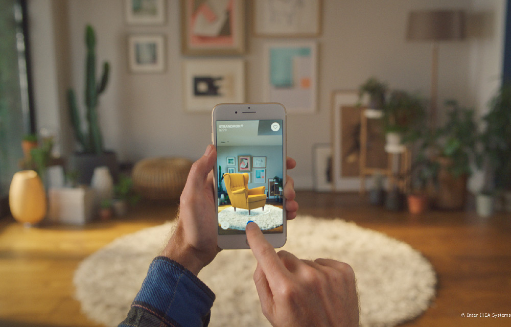 scopri la nuova app di IKEA che permette di arredare virtualmente la casa