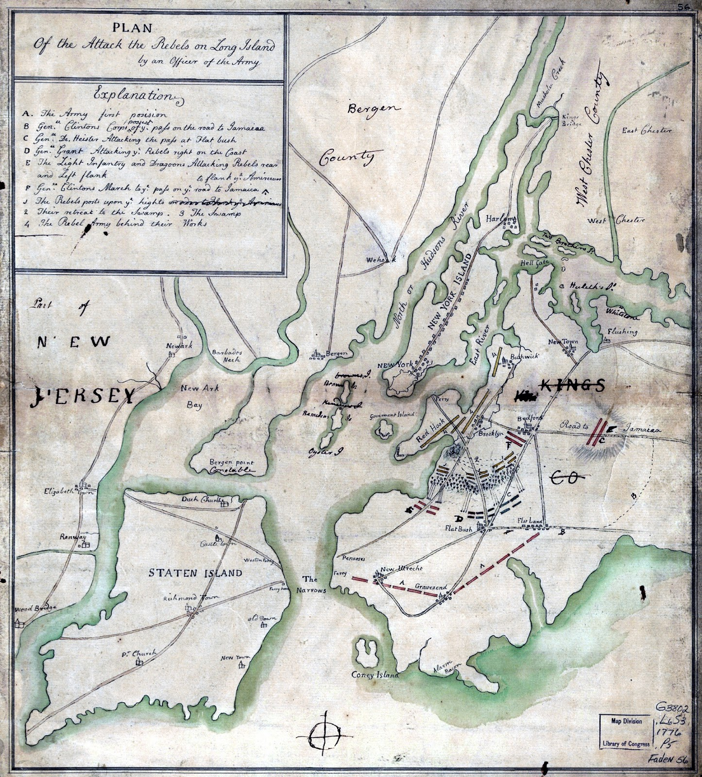 Revolutionary War Map Of New York.The Revolutionary War In Richmond County New York Maps