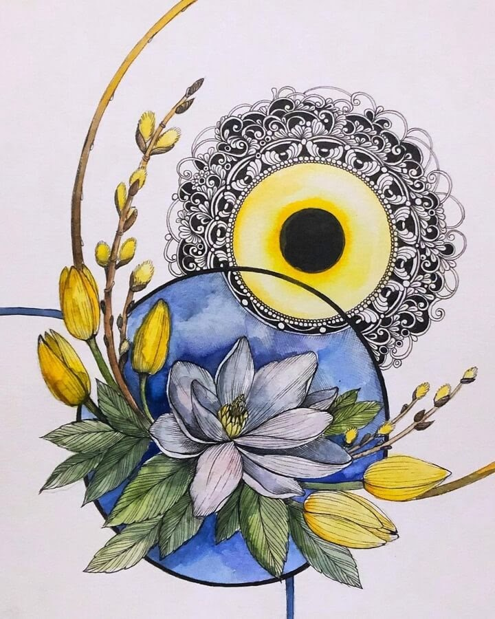 06-Yellow-and-blue-flowers-sinArt-www-designstack-co