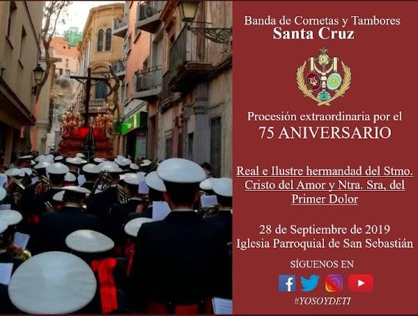 La Banda de Cornetas y Tambores Santa Cruz Almeria estará presente en la Extraordinaria del Amor