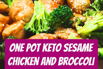One Pot Keto Sesame Chicken and Broccoli Recipe #keto #ketodiet #ketorecipes #lowcarb #lowcarbrecipes