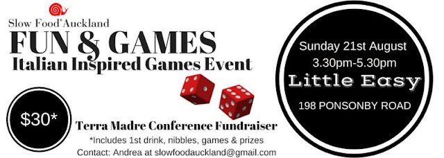 Fun and Games – Italian Inspired Games Event – August 21