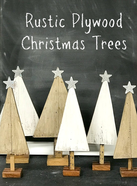 Rustic  Plywood Christmas Trees. Homeroad.net