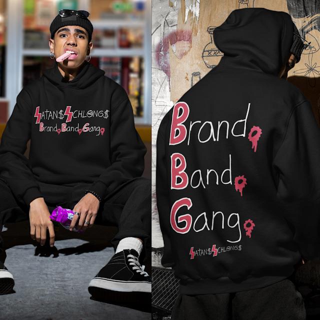 Satans Schlongs Brand Band Gang (Full-Patch) Essential Hoodie