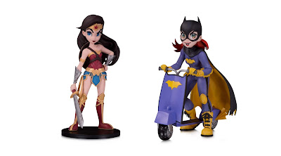 DC Comics Artists Alley Wonder Woman & Batgirl Vinyl Figures by Chrissie Zullo x DC Collectibles