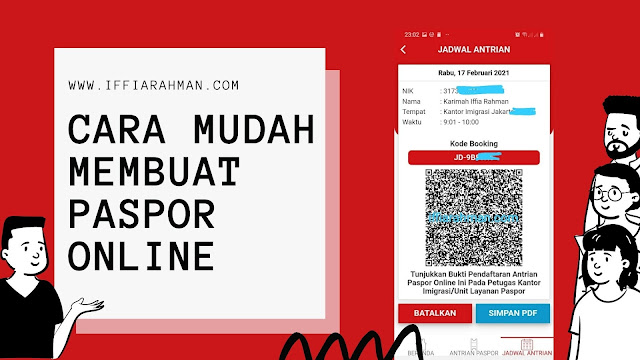 apakah antrian paspor harus online