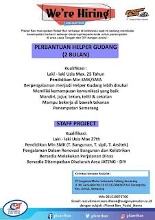 Loker Semarang Mei 2020 - Lowongan kerja planet ban semarang terbaru 2020