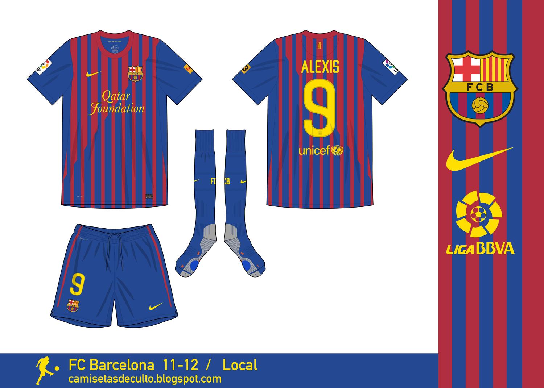 2b775f6751 Camisetas de Culto  FC Barcelona 11-12