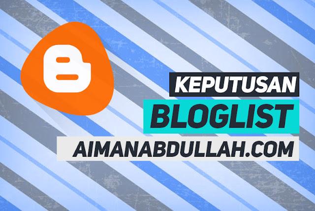 Senarai Bloglist aimanabdullah.com