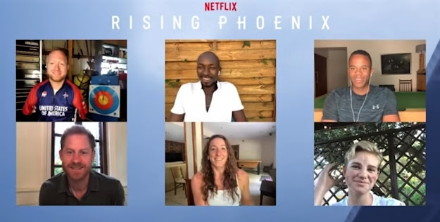 """Harry and the para-athlete stars of """"Rising Phoenix"""" sit down and discuss the power of sport"""