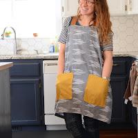 diy farmhouse apron crossback