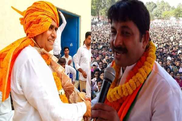 manoj-tiwari-rally-in-tigaon-basantpur-road-shiv-enclave-17-october