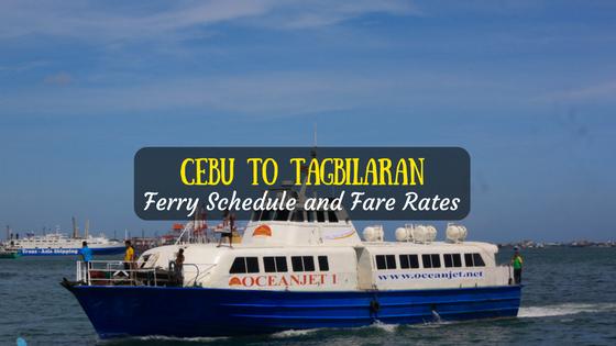 Cebu to Tagbilaran ferry schedule