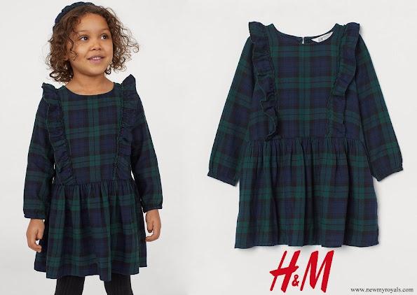 Princess Estelle wore HM Patterned flounced dress