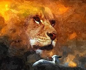 Lion and the lamb... of God / El Leon y el cordero... de Dios.