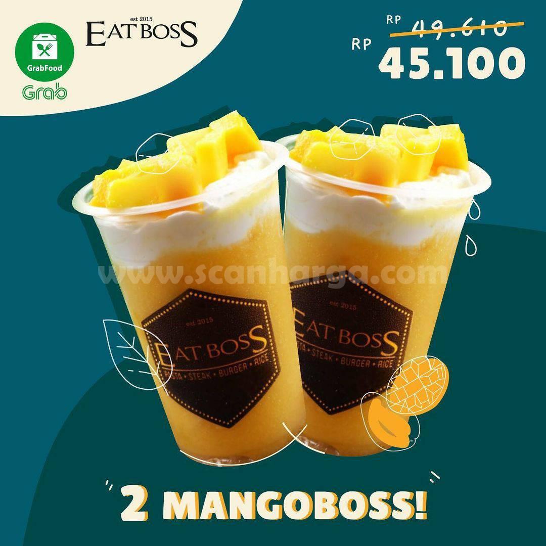 Promo EATBOSS Beli 2 Mangoboss cuma Rp 45.100 via GrabFood