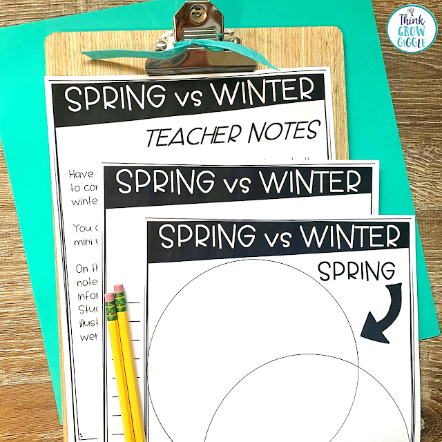 spring and seasons activity