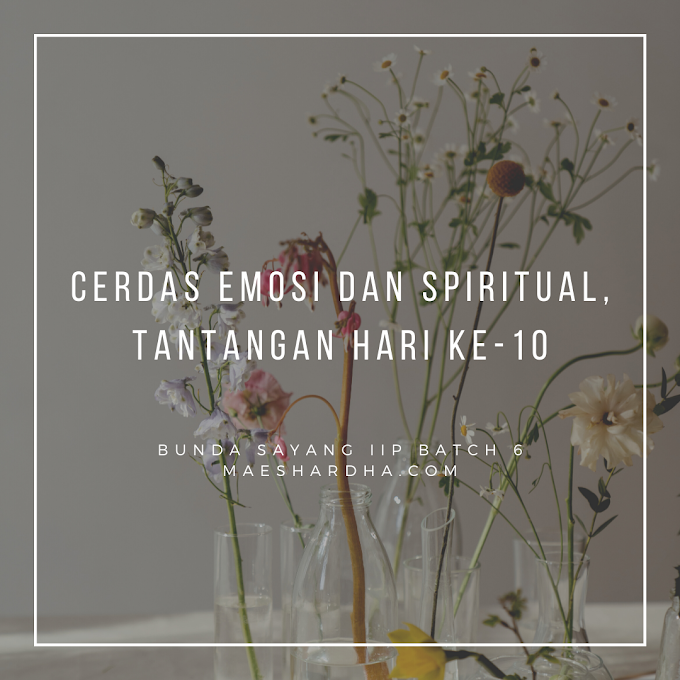 Cerdas Emosi dan Spiritual, Tantangan Hari Ke-10