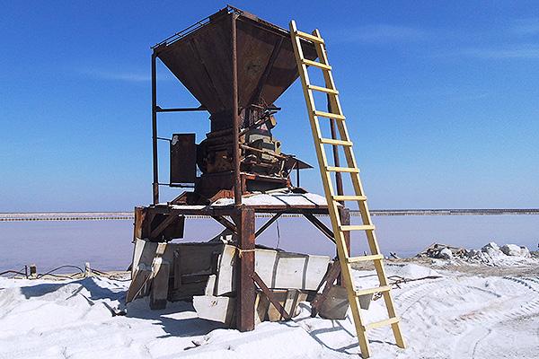 Добыча соли в Саках, Крым