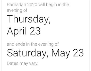 পহেলা রমজান ২০২০, রমজানের সময় সূচি 2020, রমজান ২০২০ কোন মাসে,