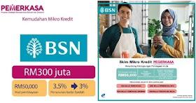 BSN Micro Pemerkasa : Mohon Untuk Pembiayaan Mikro Kredit Berjumlah RM50,000