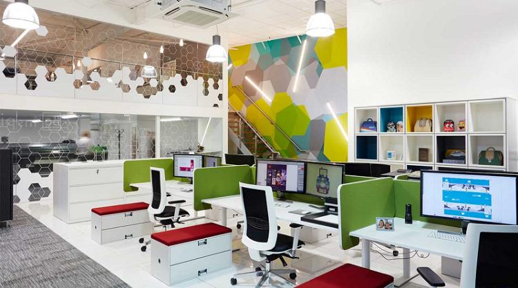 Bí quyết phối màu cho văn phòng kích thích sự sáng tạo
