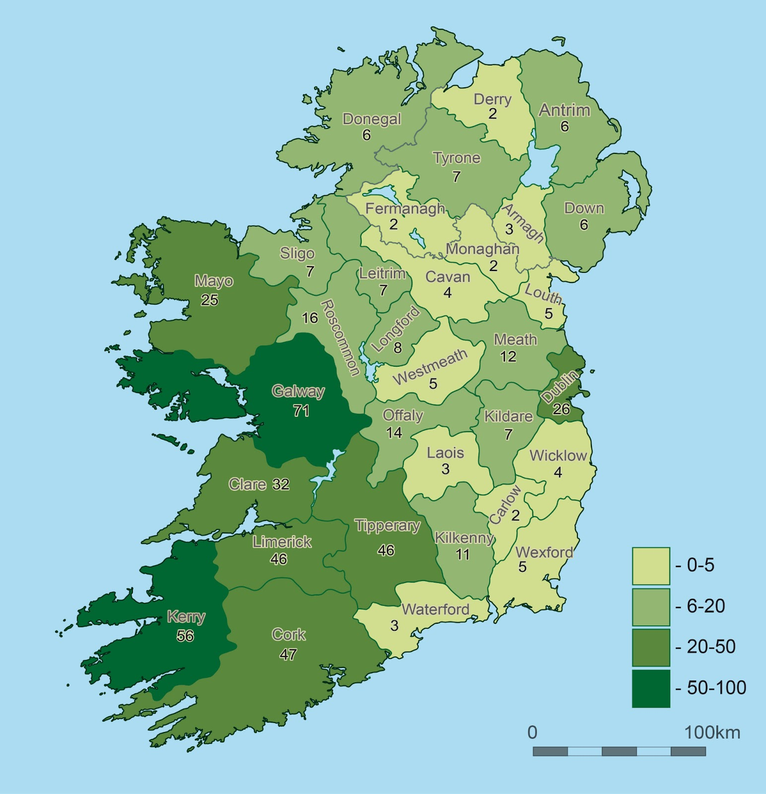 Map Of Ireland 32.30b430 Visit All 32 Counties In Ireland The Moral Black Hole
