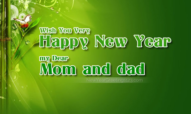New Year Wishes for Mother, Father & Parents