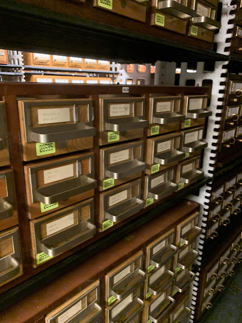 Rows and rows of card catalogs