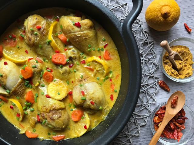 jamoncitos de pollo al curry receta