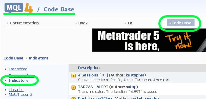메타트레이더 - 외부 지표(Indecator) 가져와 적용하는 방법