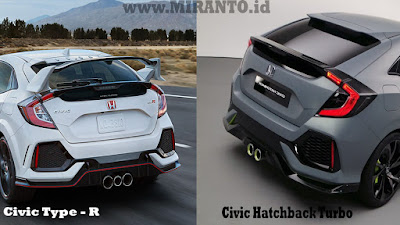 Rear Spoiler Civic Type R Vs Civic Hatchback Turbo