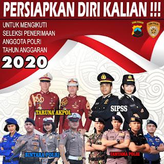 Kapan Dibuka Pendaftaran,Penerimaan POLRI T.A 2020, Ini Jadwalnya