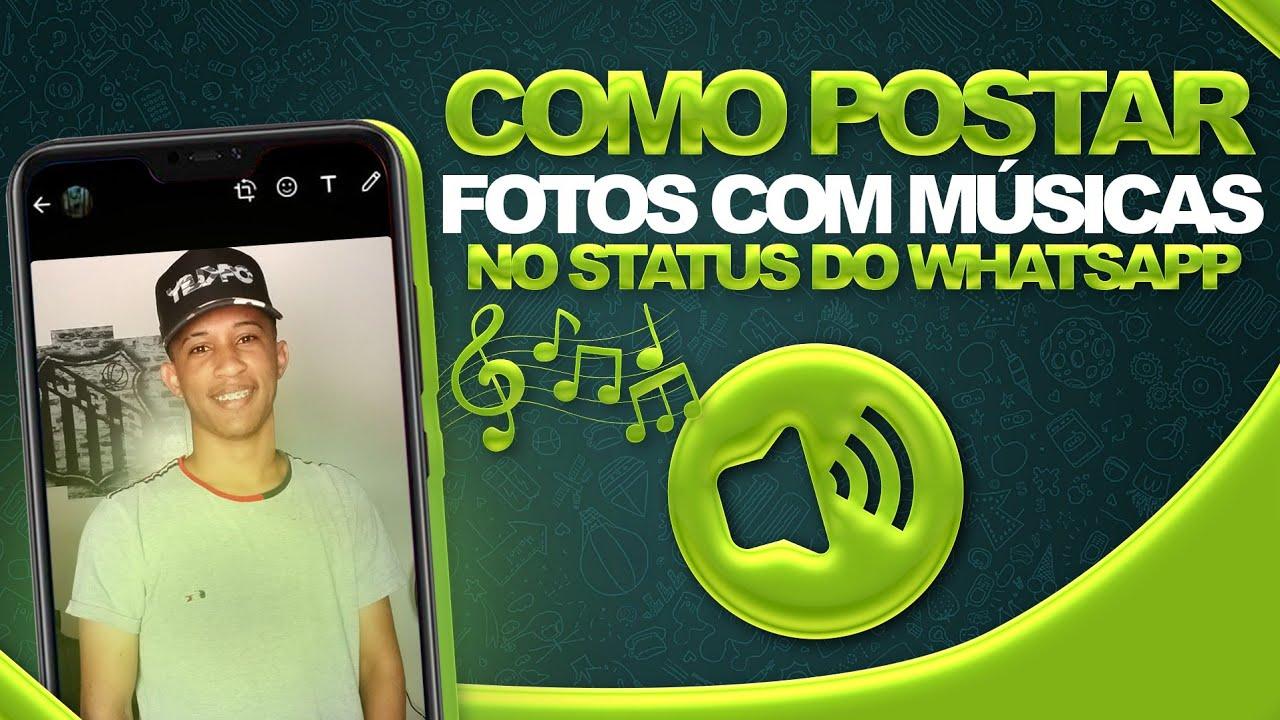 QUE TOP! Como postar FOTOS com MÚSICAS nos status do WhatsApp