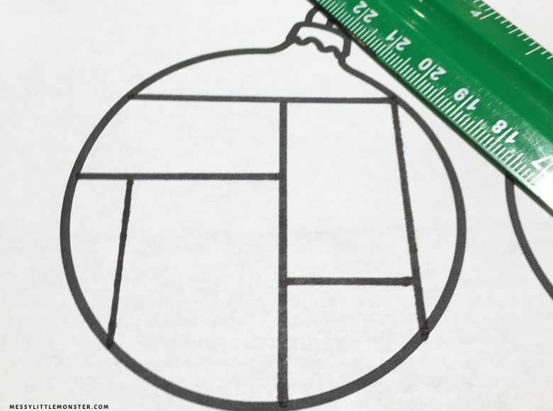 Paper Christmas ornament template