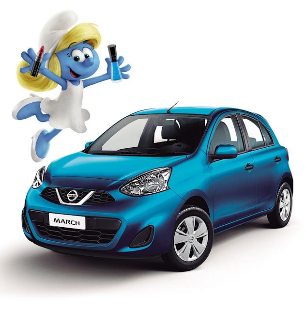 Promoção NissanMarch, Vult e Smurfs