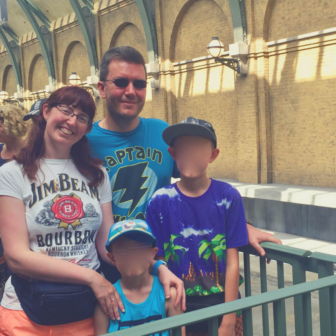 Morgan Prince and family at Universal Orlando.
