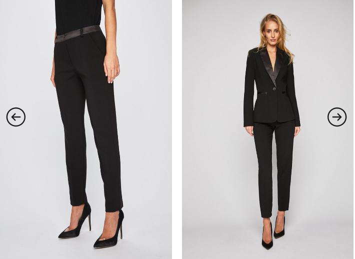 Answear - Pantaloni Animal me negri eleganti office