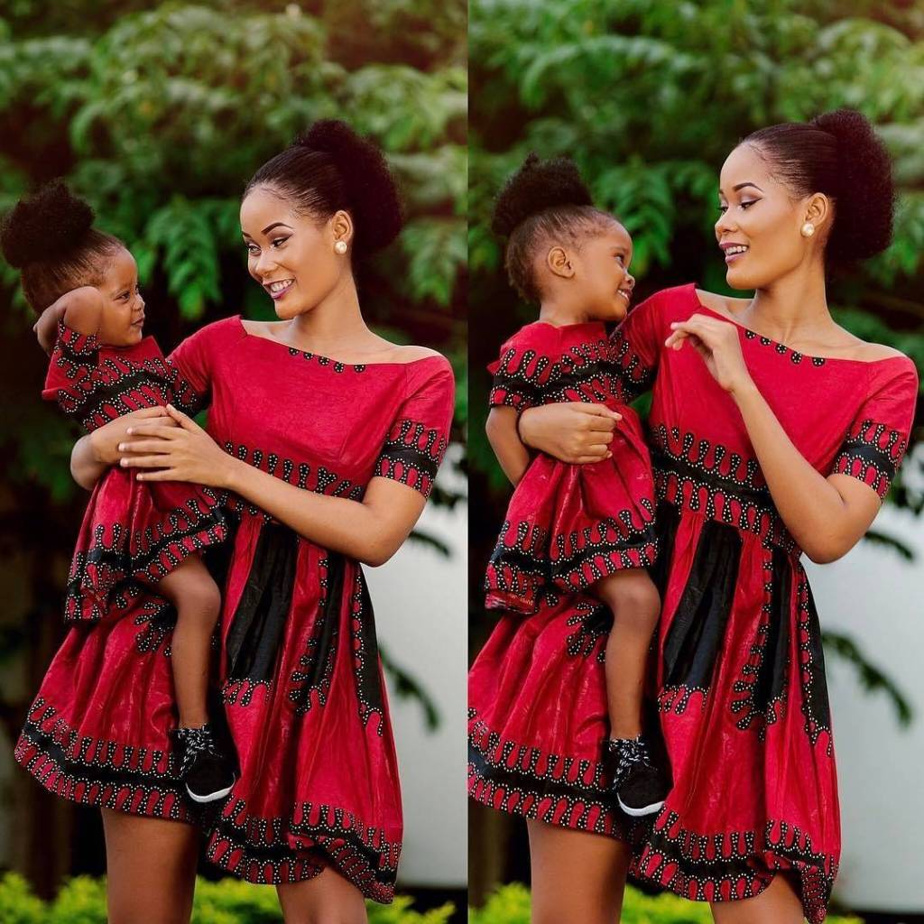 Matching Ankara Styles For Mothers And Their Daughters