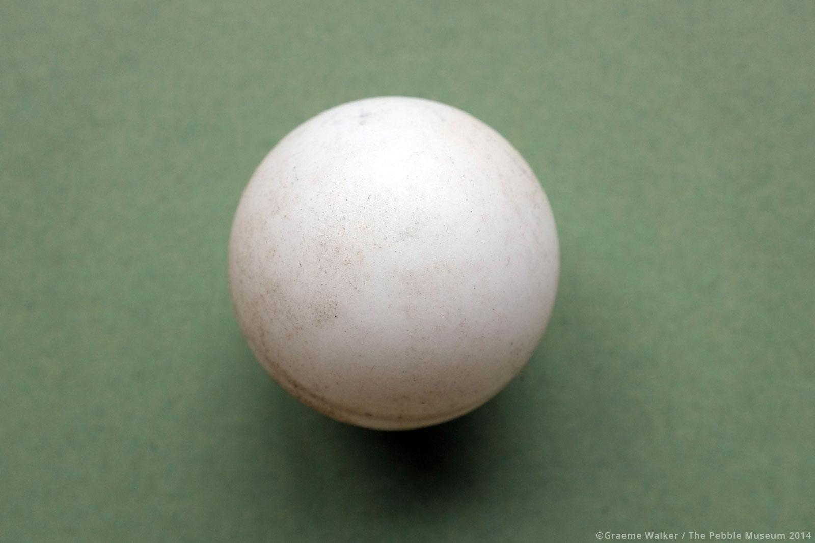 Table Tennis Ball © Graeme Walker / The Pebble Museum 2019