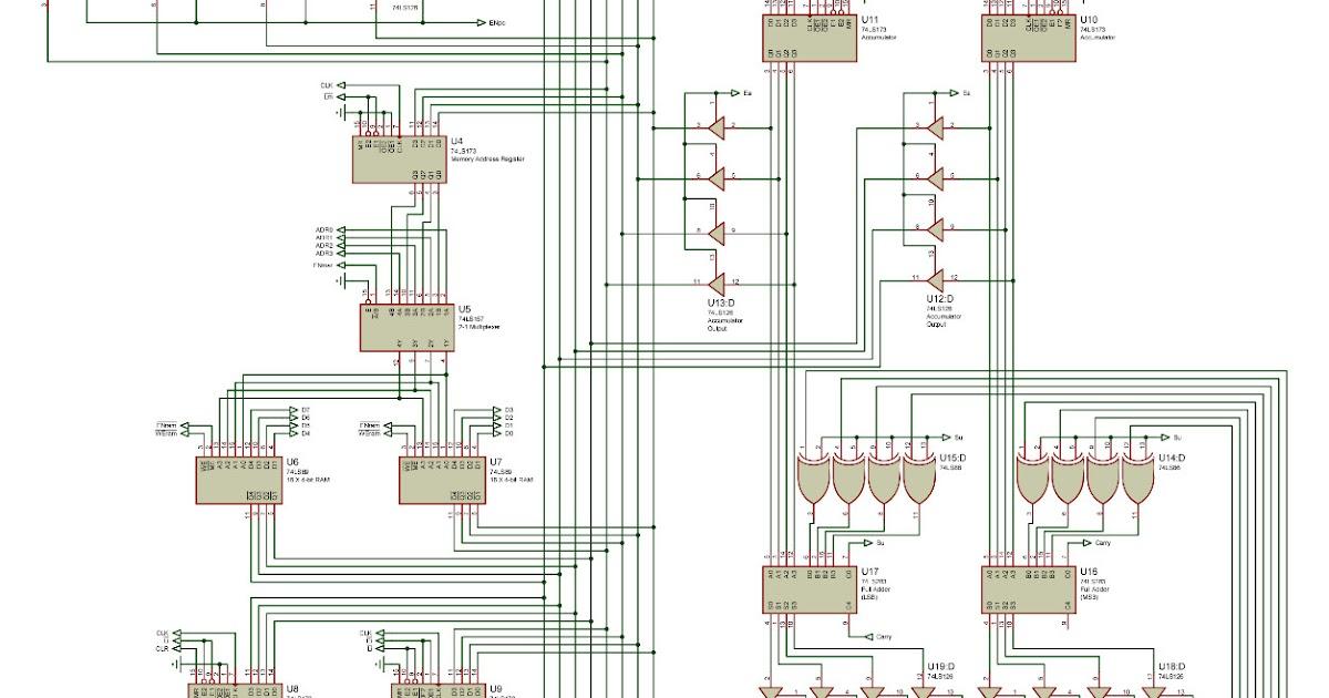 discrete digital logic circuits sap 1 simple as possible microprocessor schematic diagram