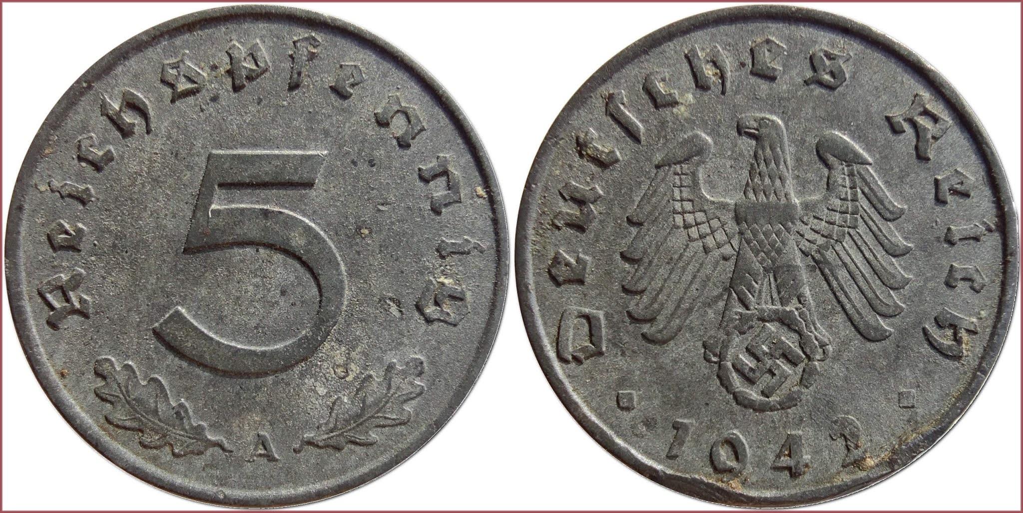 5 reichspfennig, 1942: German Reich (Third Reich)