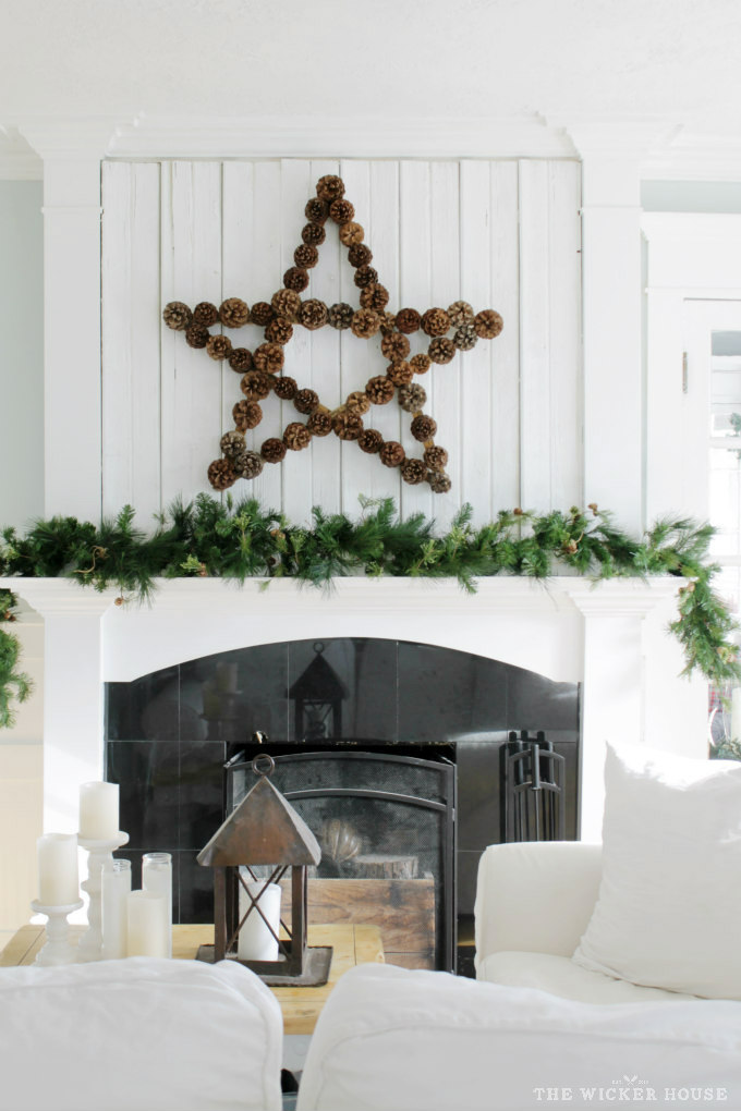 7 Ways To Add Christmas Charm for FREE/Pine Cone Wreath