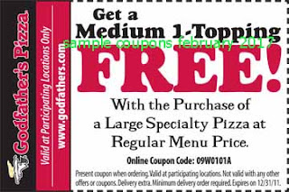 Godfathers Pizza coupons february 2017